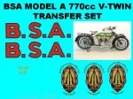 BSA A Model Transfers and Decal Sets